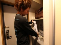 室内に洗濯機完備 洗濯機物を乾かす浴室乾燥機も設備としてついてます
