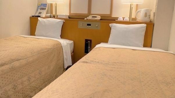 喫煙 エコノミーツイン【90cm幅シングルベッド2台】