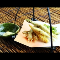 サクサク食感♪鮎の天ぷら