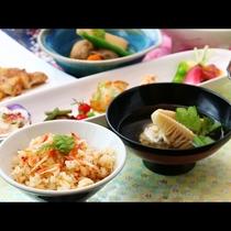 【期間限定】桜えびご飯×旬のたけのこや山菜