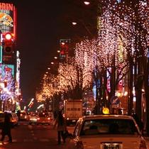 【冬】札幌の街にイルミネーション