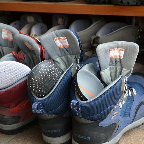 レンタル用の登山靴も揃っています