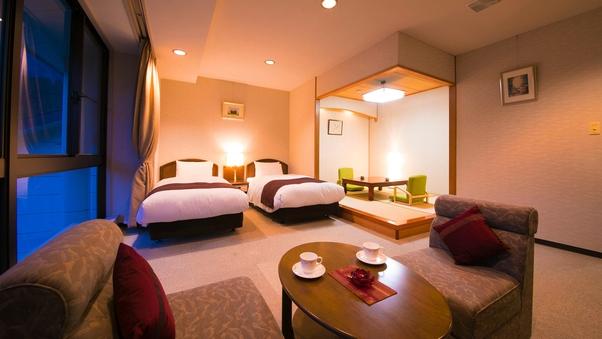 ◆和洋室(ツイン+和室4.5畳)◆角部屋で『広々』空間♪