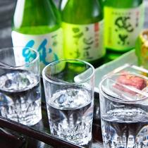 【地酒飲み比べ】
