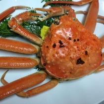 越前蟹湯で立て姿蟹