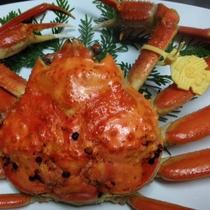 湯で立て越前蟹