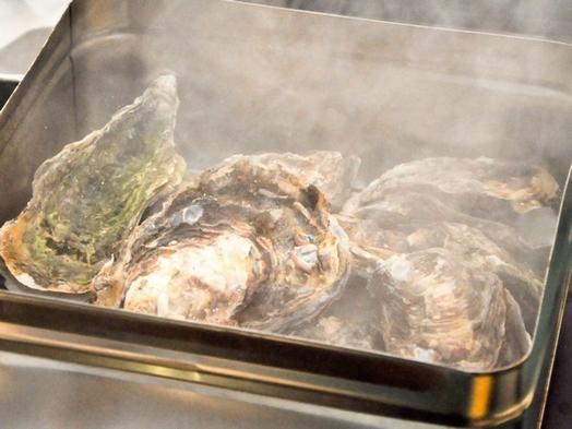 2022☆【1泊2食付】天然温泉付きホテルのレトロな牡蠣小屋で産地直送のカキを食すプラン
