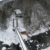 当館周辺の雪景色