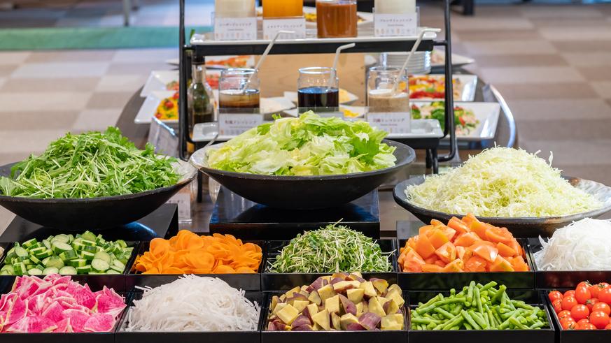 【夕食バイキング】群馬の野菜は美味しい♪