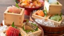 【夕食バイキング】お刺身、ちらし寿司、刺身こんにゃくも是非お召し上がりください♪ ※イメージ