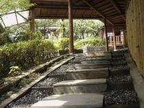 【月の間】【風の間】、東館、本館へ続く階段