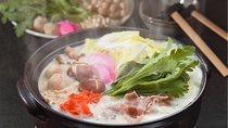 *豆乳鍋:地元のブランド豚「丹波栗きん豚(くりきんとん)」を使用