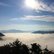 【雲海】季節限定の幻想的な世界が広がります。