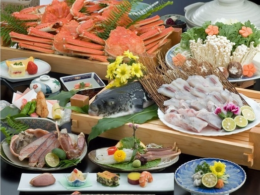 【さき楽30】【かにふぐ極みコース】★<蟹とふぐを食す!満腹双味プラン♪>★