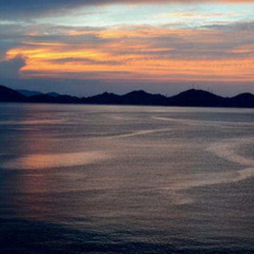 小浜湾の夕焼け