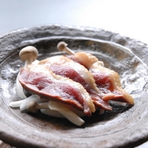 鴨肉の陶板焼き