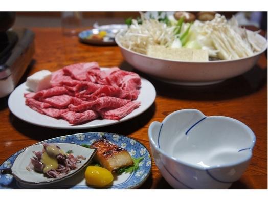 牛すき焼き☆神鍋高原の定番鍋・甘めがお好き?それとも!ジュニア〜プラチナ世代まで笑顔弾けるプラン♪