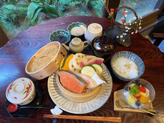 朝食付【個室食プラン:鮭せいろ蒸しセット】
