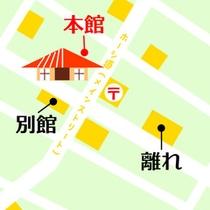 *【本館地図】メインストリート沿いにございますので、迷わずお越しいただけます。