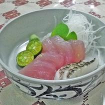 *【夕食一例】イラブチャーお刺身