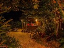 【外観】夜は雰囲気がガラリと変わります。