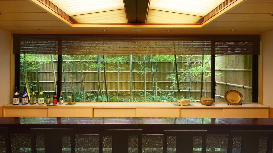 ◆日本料理 嵯峨 カウンターからの眺め