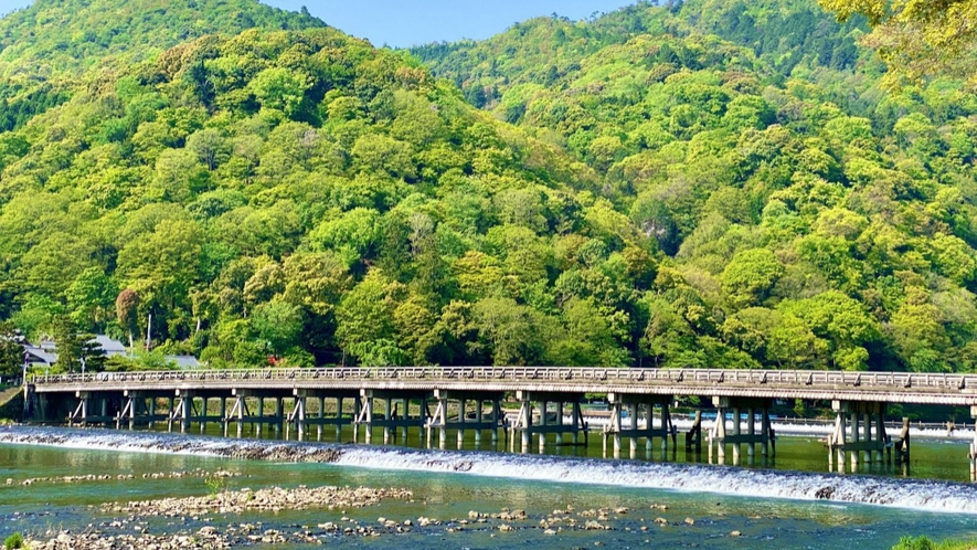 ◆嵐山:渡月橋(ホテルより車で5分)