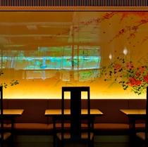 『嵯峨四季草花図』桜花・五山の送り火・楓・水仙で四季を表現(写真はイメージです)