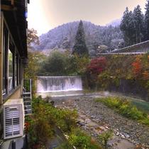*部屋からの景色_滝