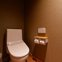 *新館の客室は全てウォシュレットタイプのお手洗いを完備。