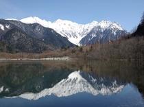 開山直後の大正池