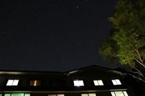 ホテルと星空