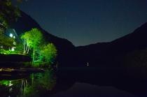 大正池と星空