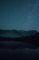 穂高連峰と天の川