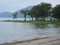 田沢湖湖畔 白浜
