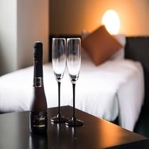 記念日等にはシャンパンをお部屋にご用意いたします。