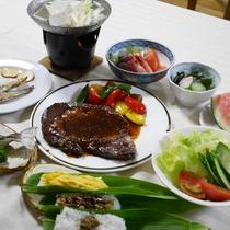 *夕食一例/旬の食材を使った家庭料理や新潟の郷土料理をご用意いたします。