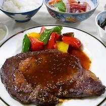 *夕食/新潟県産和牛のステーキ