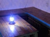 【屋上特設バー】ランプの灯りの下でゆっくりお過ごしください
