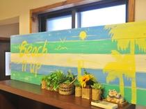 【1階共同スぺース】海をイメージしたオリジナルのデザインボード