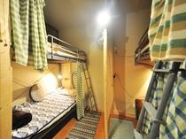 【1階ドミトリー】最大8人まで宿泊可能