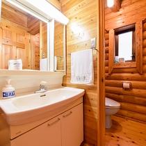 *【ロッジ】洗面所とトイレも別ですので、大人数でも快適☆