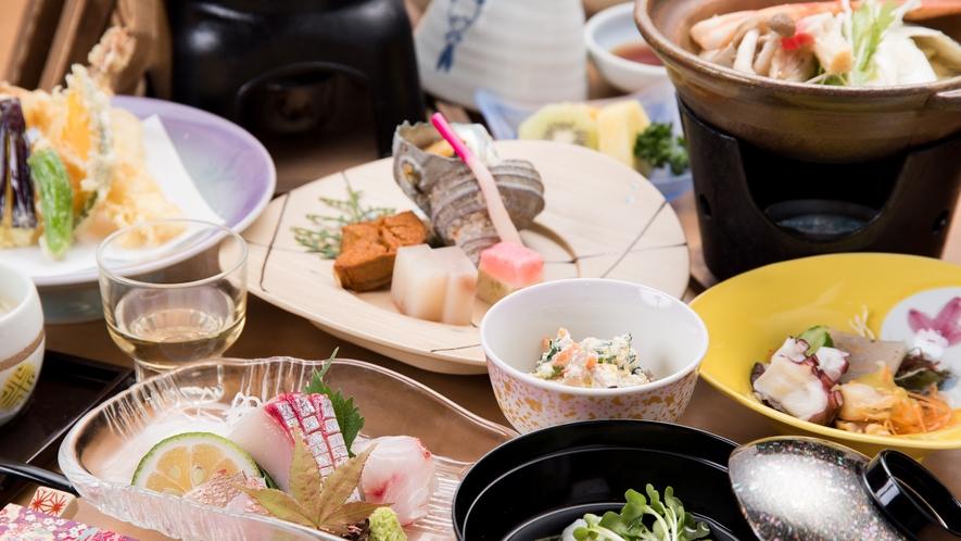 *【夕食一例】料理長が腕をふるって、お届けする自慢の逸品です。