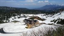 春の藤七温泉付近