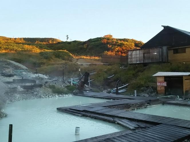 温泉パラダイスの露天風呂(混浴ゾーン)