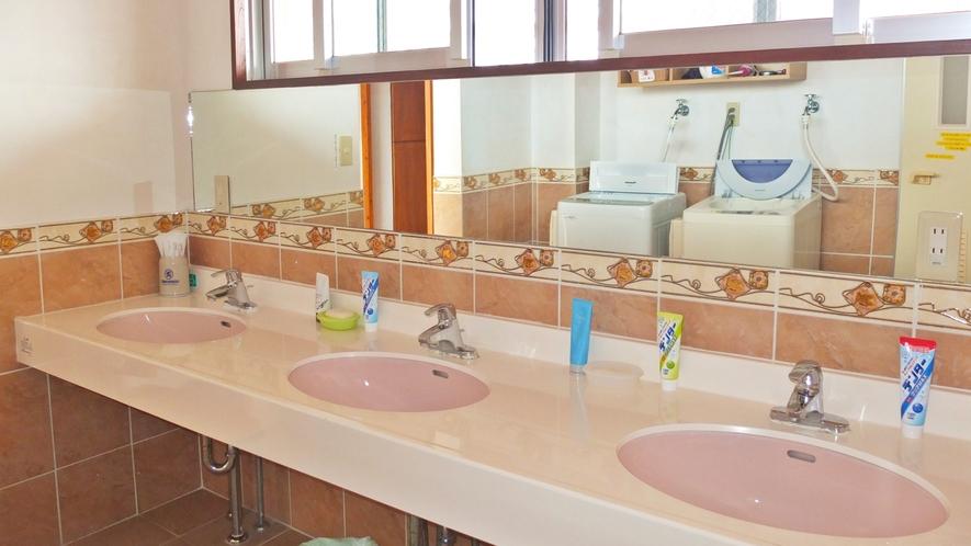 *洗面コーナー/歯磨きセット、洗顔石鹸、ドライヤーがご利用いただけます。