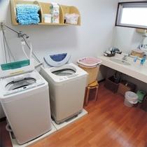 *ランドリー/洗濯機は男女別が嬉しい♪洗った衣類は各お部屋のバルコニーで干せます。