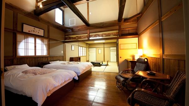 【ふじ】露天岩風呂付き和洋室離れ20畳/ツインベッド