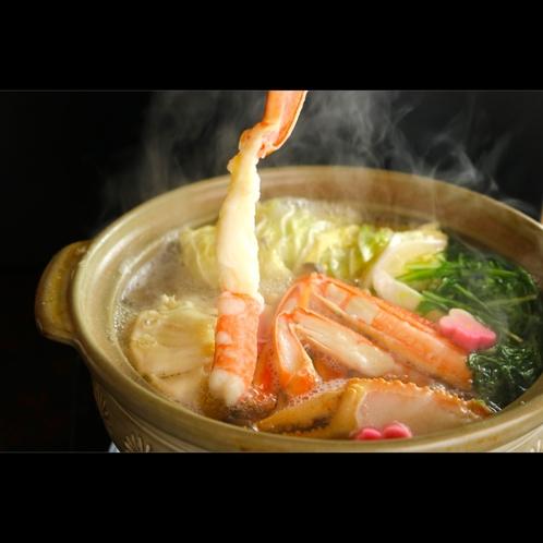 旨味たっぷり鍋に蟹の身をしゃぶしゃぶ…満足度の高いカニ鍋おすすめです