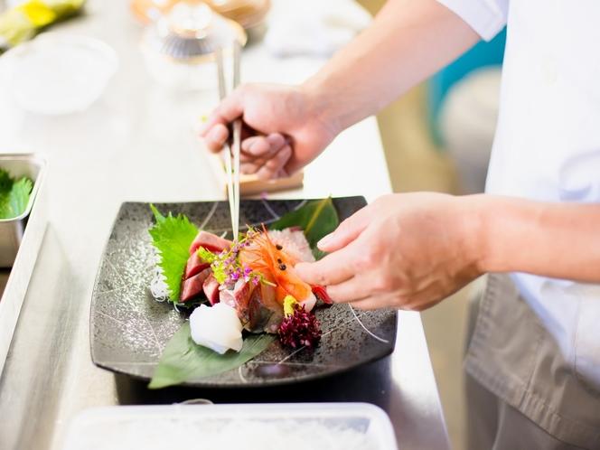 【料理こだわり】お客様目線を大切に。彩り、香り、食べやすさ、皆様への思いを料理で表す